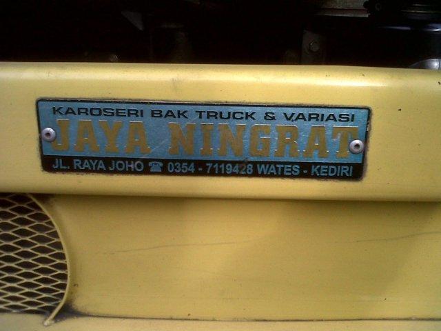 karoseri bak truk Jaya Ningrat Wates